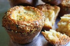 Jane's Sweets & Baking Journal: Parmesan, Herb, and Garlic Popovers . . . When Inflation is a Good Thing!