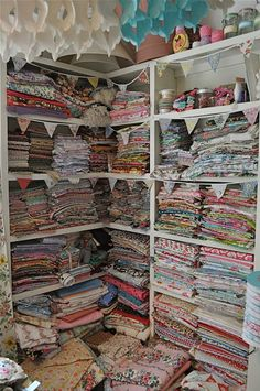 piles and piles of fabric <3 <3 <3