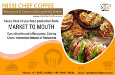 keeps track of your food production from market to mouth controlling the cost in restaurants, catering chain/ international network of restaurants. Inventory Management Software, Lead Management, Supply Chain Management, Marketing Software, Business Marketing, Coffee Restaurants, Food Cost, Cloud Mobile, Customer Relationship Management