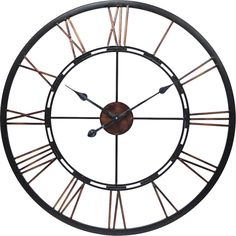Buy the Cooper Classics 40223 Aged Copper Direct. Shop for the Cooper Classics 40223 Aged Copper Mallory X Wall Clock and save. Skeleton Wall Clock, Clock Painting, Aged Copper, Farmhouse Wall Clocks, Rustic Clocks, Thing 1, Large Clock, Steel Wall, Steel Frame