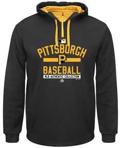 Majestic Men's Pittsburgh Pirates Therma Base Hoodie xxl 200