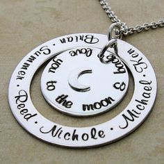 Love You To The Moon and Back Personalized Loop and Moon Disc