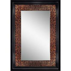 5a6f8ff8ec Amber Rectangle Mirror in Black-8894 at The