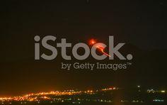 eruption of Mount Etna, sicily, Italy royalty-free stock photo