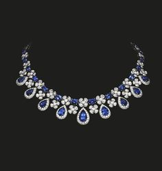 Sapphire and Diamond Necklace Magnificent diamond and sapphire necklace reflecting the beauty of nature- tabbah jewelry Sapphire Necklace, Sapphire Jewelry, Diamond Pendant Necklace, Stone Necklace, Diamond Jewelry, Diamond Necklaces, Ruby Pendant, Druzy Jewelry, Sapphire Diamond