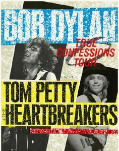 Original tour program from the Bob Dylan and Tom Petty and the Heartbreakers True Confessions tour from 1986. 24 pages
