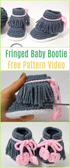 Crochet Crocodile Stitch Baby Booties Free Pattern- #Crochet Ankle ...