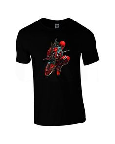 DEADPOOL Mens Black T-shirt Sizes S M L XL XXL