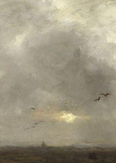 Het moeras (detail), Anton Mauve, ca. 1885–88