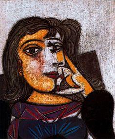 Pablo Picasso — Portrait of Dora Maar via Pablo Picasso