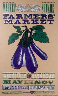 I want to do a gallery wall of all their Farmer's Market posters in my kitchen.
