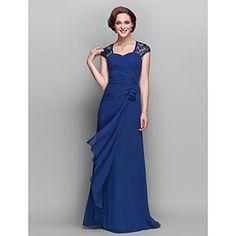 A linha V-neck Andar de comprimento georgette mãe do vestido de noiva – BRL R$ 239,76