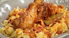 Κοτόπουλο κοκκινιστό με χυλοπίτες   Συνταγές - Sintayes.gr