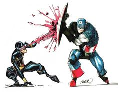 Captain America vs Cyclops