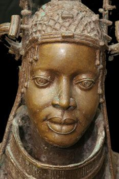 Benin - Bust of Young Oba (King) ~Repinned Via Rien Catherine Kate http://sm76626.wordpress.com/tag/benin-bronze/