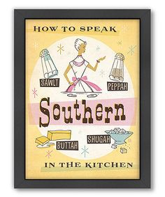 Southern Kitchen by Anderson Design Group Vintage Advertisement in Yellow Americanflat Size: 60 cm H x 42 cm W Frames On Wall, Framed Wall Art, Framed Prints, Painting Frames, Painting Prints, Art Print, Southern Style, Southern Charm, Simply Southern