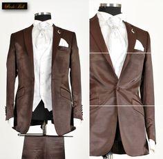 *227* OUTLET-SALE 10-teiliger Designer Herrenanzug Anzug in Kupfer Braun / Gr.44