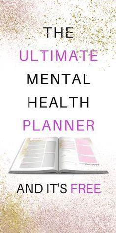 I wanted to create some mental health resources for you guys and I thought I would start by sharing the planner I use. Ever since college I have been searching for the perfect planner system. For awhile I was loyal to bullet journaling but it was too unst Free Mental Health, Mental Health Resources, Mental Health Awareness, Mental Health Therapy, Mental Health Nursing, Coaching, Transformation Project, Health Planner, Tips & Tricks