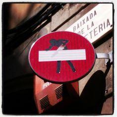 Road sign in El Gotico