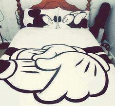 Adorable Disney bed spread for a married couple