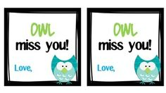 END OF THE YEAR OWL MISS YOU GIFT TAGS - TeachersPayTeachers.com