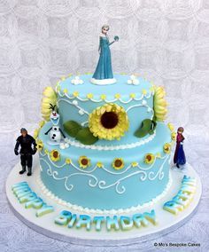frozen fever cake | Frozen Fever Birthday Cake - Personalised Cakes for Birthdays Weddings ...