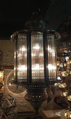 9ea96b384563 Ottoman   moroccan style pyrex lantern chandelier