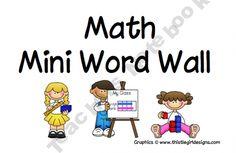 Mini Word Wall Teaching Math, Teaching Ideas, Wall Game, Number Activities, Word Walls, Math Books, Math Classroom, Early Childhood, School Stuff