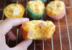 Ham and Cheese Muffins - Easy Toddler Meals