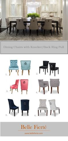 pair of kalim black velour dining chairs with chrome back rings dark legs 51767 pjpg 733600 home styling pinterest dining chairs bungalow and - Hundedusche Ring