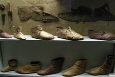 Viking footware display from the Museum at Haithabu