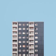 Fine art photographer Malte Brandenburg's 'Stacked' series explores the architecture and urban design surrounding Berlin's post-war tower blocks. Minimal Photography, Photography Series, Urban Photography, Geometric Photography, Photography Ideas, Architecture Design, Minimal Architecture, Building Photography, Tower Block