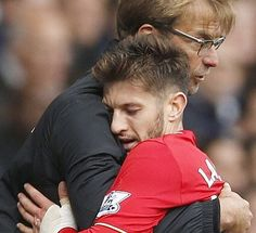 """Hold me Jurgen take away those Brendan Rodgers memories"" #lfc #liverpool by thesportbible"