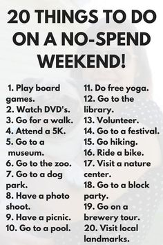 20 free things to do this weekend via frugal millennial dating couples things Things To Do When Bored, Free Things To Do, Couples Things To Do, Random Things To Do, Things To Do With Your Boyfriend, Things To Do Inside, Stuff To Do, Cheap Things, Fun Things