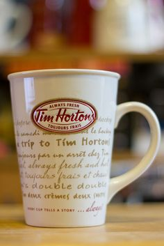 Tim Hortons Mug #009 Tim Hortons, Canada Day, The Best, Coffee Mugs, Cups, Honey, Drinks, Tableware, Recipes