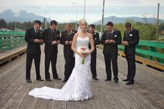Groomsmen on cell phones! Funny wedding photos. http://www.photosbyblush.com/blog