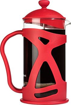 French Press Coffee Maker 8 Cup by Sunlit Red with Spare Filter Best for Hot Cold and Iced Coffee Loose Leaf Tea ** Be sure to check out this awesome product.Note:It is affiliate link to Amazon.