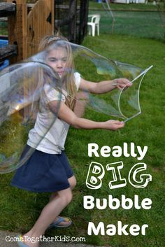 This activity was so cheap and easy to do, but the results were awesome and the kids LOVED it.     Check out these really BIG bubbles!   ...