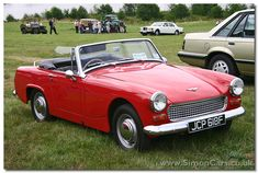 LIKE MIKA'S - Mika has a car like this red convertible 1966 Austin Healey Sprite