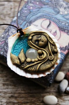 RESERVED for Alicia Part Payment Mermaid Pendant by TRaewyn