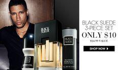 AVON - Avon for men - Black Suede 3-piece set only $10! Shop Avon for Men at http://eseagren.avonrepresentative.com