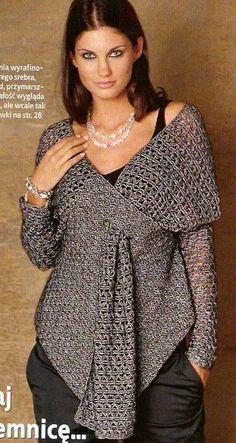 CROCHET PATTERN!!! Haut gilet de ajouré au crochet avec des volants de viscose et de soie. Designer de vêtements faits à la main.