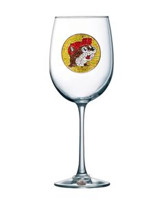Queens' Jewels Buc-ees Logo Jeweled Stemmed Wine Glass by Cork Pops