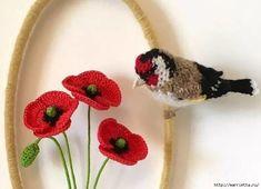 Птичий двор Jose Heroys. Вязаные птички, необыкновенной красоты (55) (700x506, 184Kb)