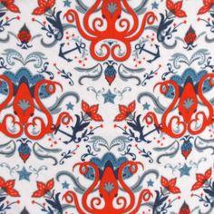Anti- Pill Fleece Fabric- Octopus And Anchor at Joann.com $7.79/sale