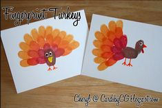 Fingerprint Turkeys / 23 Clever Crafts To Keep The Kids Busy On Thanksgiving (via BuzzFeed)