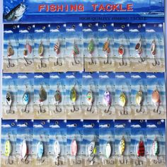 30pcs/lot Fishing Lure Mixed Color With Hooks Diving Depth Metal Slice Lures Hard Baits Fishing Tackle Fishing Lures