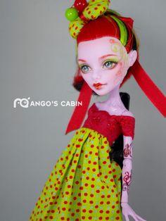 Cherry OOAK Custom Repaint Monster High Doll by Mango's Cabin   eBay