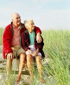 Older couple.