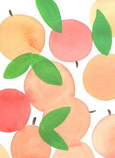 Citrus Watercolor Patterns by Ursula Hockman, via Behance